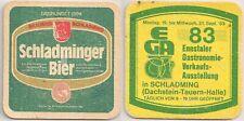 """Schladminger Bier - alter Bierdeckel """"Ennstaler Gastronomie-Verkaufs-Ausstellung"""