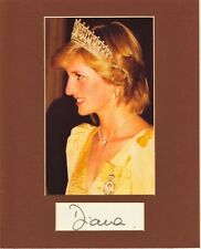 PRINCESS DIANA  CUSTOM 8 by 10 MATTED REPRINT PHOTO & REPRINT AUTOGRAPH