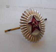 INSIGNE / COCARDE CHAPKA CASQUETTE ARMEE ROUGE MARTEAU ET FAUCILLE URSS CCCP