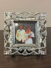 Godinger 4X4 Silver Plate Picture Frame