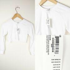 American Apparel Womens White Crop Raglan Sweater Size XS NEW Festival Summer