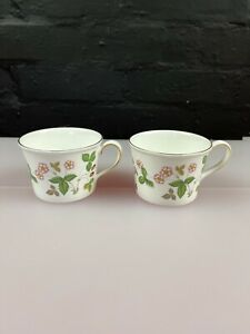 2 x Wedgwood Wild Strawberry Replacement Tea Cups