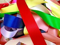 Berisfords UK Best Quality Double Satin Ribbon Choose Shade and Width Per Metre
