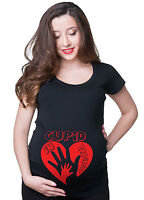 Valentine Day Pregnancy T-shirt Cupid Maternity Tee Shirt