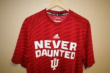 Mens Adidas Brand INDIANA HOOSIERS Climalite polyester gym T-shirt Large L