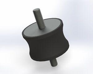 4-Pack: 55x35mm M10, Options, UK Made, Rubber Bobbin Anti Vibration Mount MM