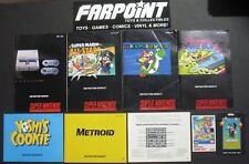 Lot Nintendo SNES NES Super Nintendo Manual Metroid Super Mario