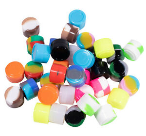2ml NonStick Round Cylinder Silicone Jars box Mixed Color