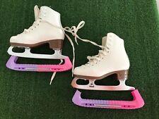Jackson Mystique Youth White Figure Ice Skates Size 11 1/2 #Y402