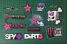 Set of 12 Stickers Vinyl Decal Rockstar Energy Drink Metal Mulisha Racing Car