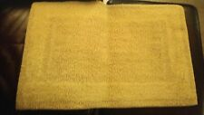 Vintage 3 Piece Chenille Bath Set Yellow Pre-Owned