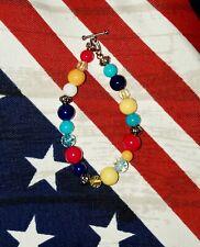 NEW Handmade Glass Bead Toggle Bracelet