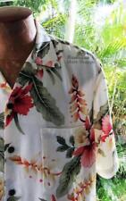 NEW Men's Size L Ivory Hawaiian Friday Aloha Shirt ~ Luau Cruise Beach Wedding