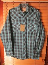Wrangler homme à manches courtes en coton chemise à carreaux regular western rouge bleu vert