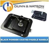 Black Paddle Handle Powdercoated x1 Camper Trailer, Caravan Toolbox
