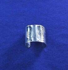 Sunburst Pattern Sterling Silver Ear Cuff