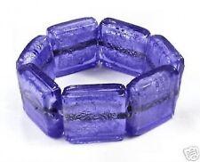 GORGEOUS DARK BLUE CHUNKY GLASS BRACELET! WOW!