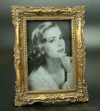 Jugendstil Bilderrahmen Fotorahmen Rechteckig Rahmen Gold Holz Nostalgie Antik