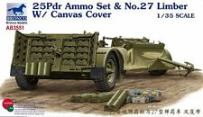 Bronco 1/35 25pdr Ammo Set & No.27 Limber With Canvas Cover #3551 #AB3551
