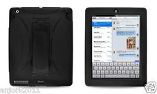 Apple iPad 2 S Armor Hybrid Case Skin Cover w/ Kickstand Accessory Black