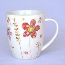 Becher mit Blumen rot - Tasse - Becher mit Henkel - Kaffeebecher - NEU