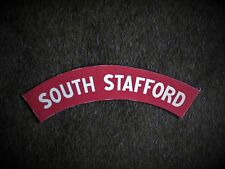 South Stafford Regt reproduction printed badges WWII  for Battledress