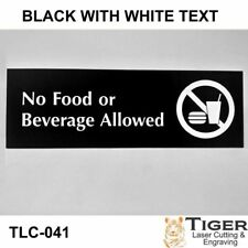 No Food or Beverage Allowed Sign WITH GRAPHIC- 20CM X 6CM OR 8IN X 2.67IN