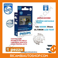 1 LAMPADINA LED 6000K FEST 38 MM PHILIPS LANCIA Y10 1.0 FIRE KW:33 1985>1989 128