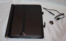 Open Box Pebble Flio Executive Leather Ipad 1 2 3 Folio w Rechargeable Battery