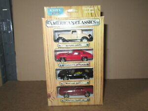 529Q Ertl American Classics Set Ford 32 Corvette MUSTANG Trans Am 1:64 +Box