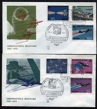 1973 - Aeronautica Militare - n.1207/1211+A160  -  Due  Buste  FDC