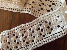 dentelle au crochet fait main 95 cm x 5.5 cm☺old lace