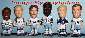 "Dallas Cowboys Football 6"" Bobblehead Set Pepsi Promo Bobble Head"