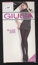 NEUF COLLANT CHAUD TAILLE 4 = L  MARRON GIULIA BLUES 200 DEN PANTHYHOSE WINTER