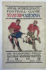 1909 Cal vs Stanford Big Game College Football Program (Rugby)