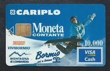 VISA CASH MONETA CARIPLO Bormis Associazione Albergatori Vivibormio CB MONEO