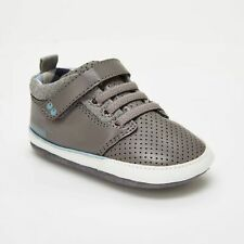 Baby Boys Surprize by Stride Rite Ben Sneaker Leather Shoes Grey 12-18 M New