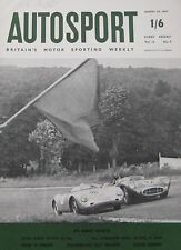 AUTOSPORT magazine 30/8/1957 featuring MG EX181 record car Cutaway drawing