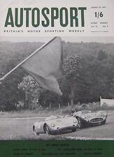 AUTOSPORT magazine 30/8/1957 featuring MG EX181 record car Cutaway drawing