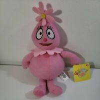 "Yo Gabba Gabba Foofa 11"" Plush Pink Flower Stuffed Doll Toy 2010"