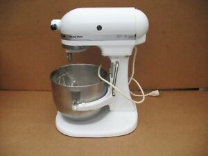 Kitchenaid Heavy Duty Lift Mixer K5SS 325w - 10 Speed White W/Bowl & Attachment