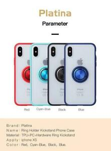 For iPhone  7 8 Plus 11 Pro XS Max XR Platina Ring Holder Kickstand Phone Case.