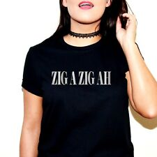 ZIG A ZIG AH SLOGAN T-SHIRT TSHIRT TEE SPICE GIRLS GIRL POWER MUSIC UK TOUR 2019