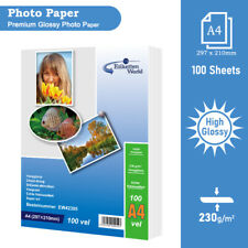 More details for 100 sheets 230gsm a4 gloss photo paper for inkjet printers glossy ew