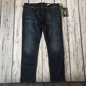 Men's True Religion Jeans 38 Waist 31 Leg Geno Relaxed Slim Fit Blue Stretch