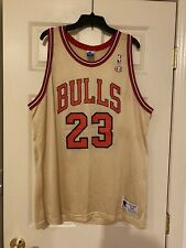 Vintage Michael Jordan All Star GOLD Chicago Bull Champion Jersey Size 52 Chicag