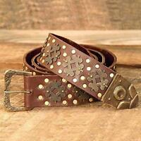 Medieval Long Leather Belt