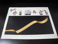 Fender Guitar Japan Catalog Book in 1982 Stratocaster Telecaster Hendrix Clapton