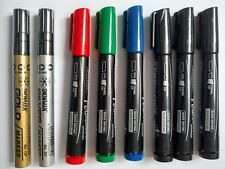8 X CALIGRAPHY PENS 5MM CHISLED NIB, SILVER AND GOLD PAINT MARKERS AND MORE