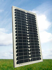 30 Watt Mono Solarmodul PV Solarpanel 12V *NEU* für Garten und Camping